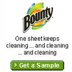 Free Bounty Paper Towel Sample