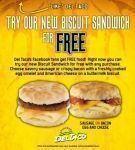 Free Breakfast Sandwich