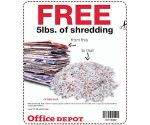 Free Shredding at OfficeMax